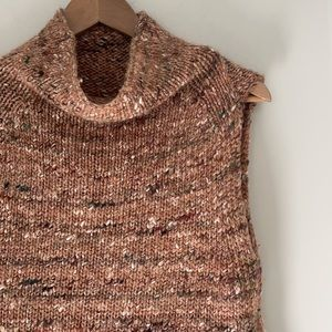 Aritzia Wilfred Durandal sleeveless funnel neck tunic sweater extra small pink